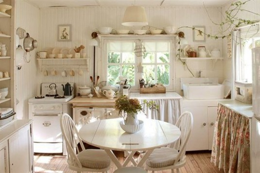 Shabby-Chic-White-Kitchen