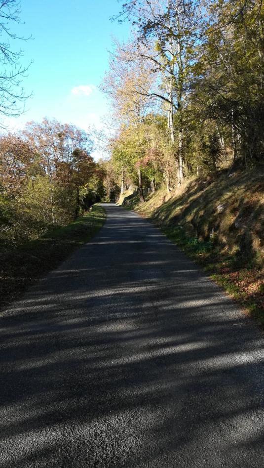 route du retour de Campan